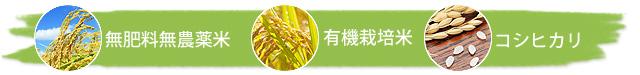 無肥料無農薬米・有機栽培米・コシヒカリ